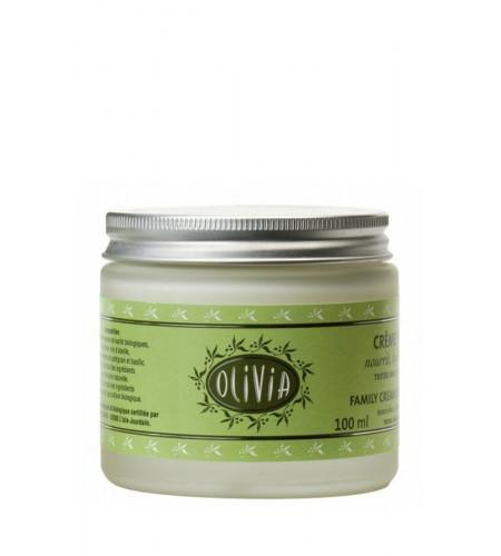 Crème hydratante à l'huile d'olive & beurre de karité, certifiée BIO