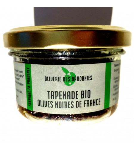 Tapenade Bio olives noires de France 90gr